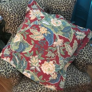 3 euro size floral pottery barn pillowcase